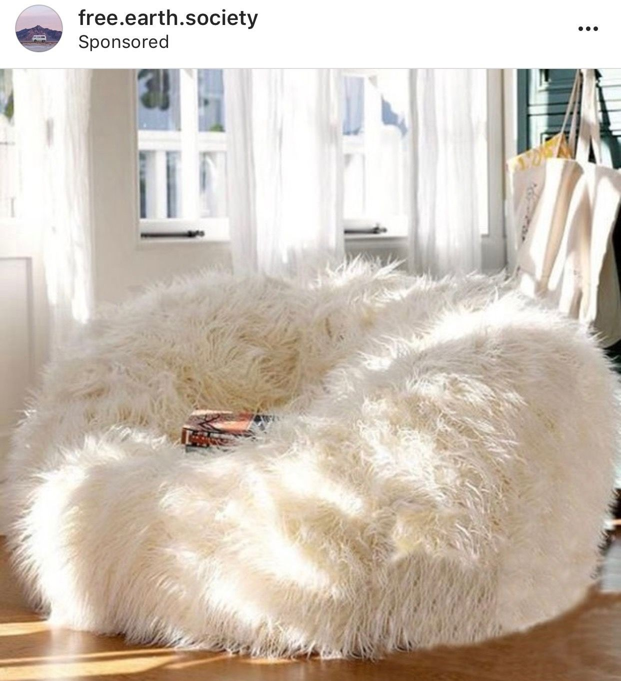 Furry bean bag chairs for teen fleecy design