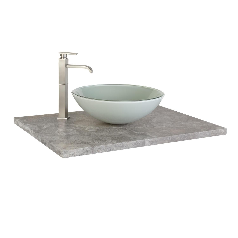 Attractive Glass Vanity Top For Vessel Sink
