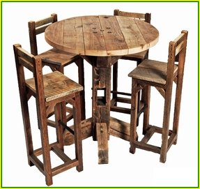 High top pub table and chairs