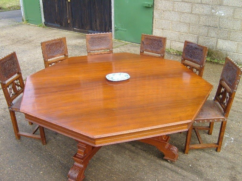 Round Table Huge 6ft Victorian Round Dining Table To Seat