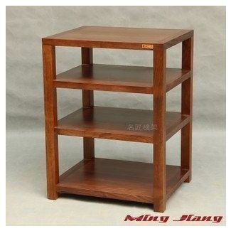 Single Four Audio Rack Wood Shelf Cabinet Equipment