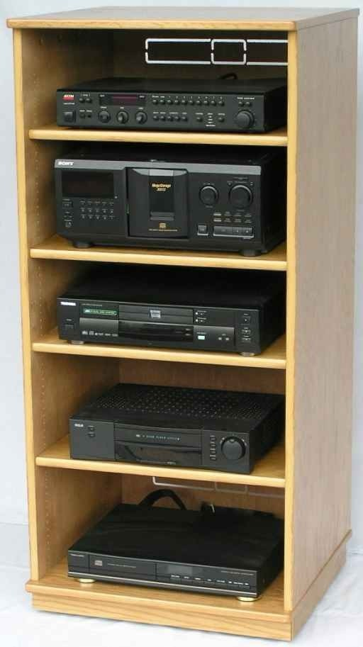Gentil Stereo Cabinet Entertainment Centers In Black Natural Oak Or Maple