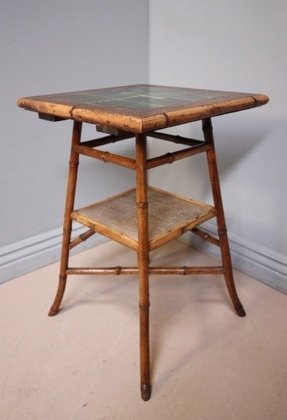 Bamboo tables antique two tables antique tier tables antique side