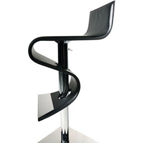 Boston contemporary bar stool in black leather by danform