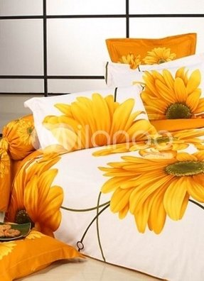 Bright colored bedding sets give a bright mood to you