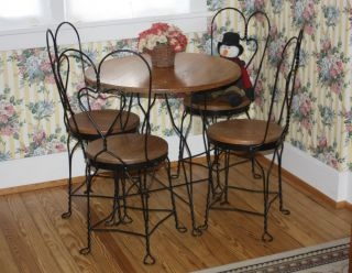 Merveilleux Details About Soda Shop Cafe Diner Table W 4 Chairs