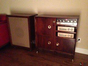 Heathkit Complete Stereo System W Speaker And Wood Cabinets Photo