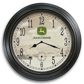 John deere large wooden farm wall clock