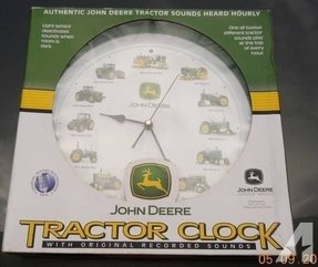 John deere wall clock sound of 12 tractors that made