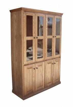 Elegant Glass Door Cabinet with Shelves
