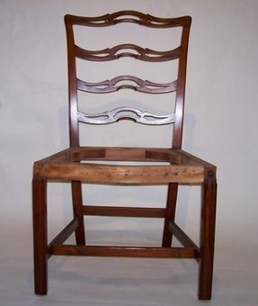 Pair childs mahogany side chairs
