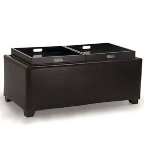 Leather Storage Ottoman With Tray Ideas On Foter
