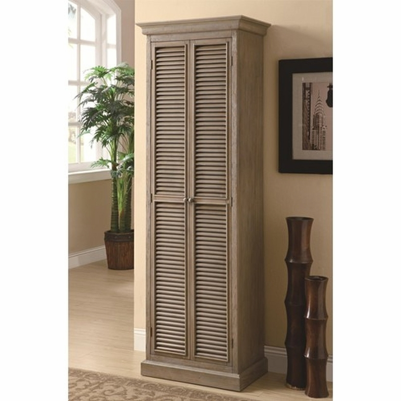 Accent cabinets tall storage cabinet with shutter door fronts  sc 1 st  Foter & Tall Linen Storage Cabinet - Foter