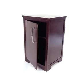 Cabinet for mini fridge beech wood frame and veneers with