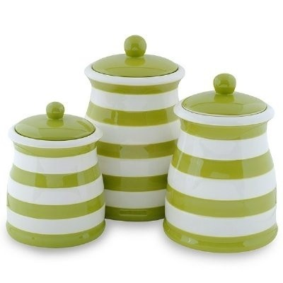 Attirant Ceramic Kitchen Canister Ceramic Canister Sets Green Kitchen Canisters
