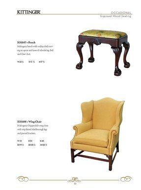 Chippendale Wingback Chair Foter
