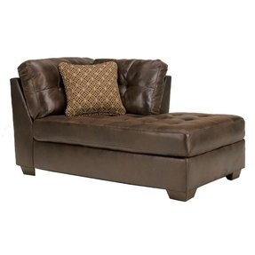 Chocolate brown chaise lounge 1