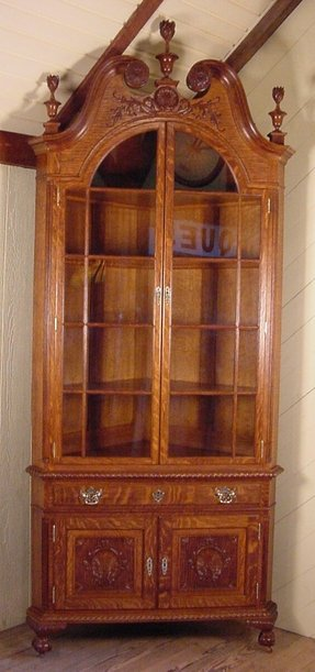 Well-liked Corner Oak China Cabinet - Foter HI06