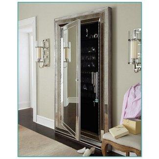 Floor Length Mirror With A Black Frame
