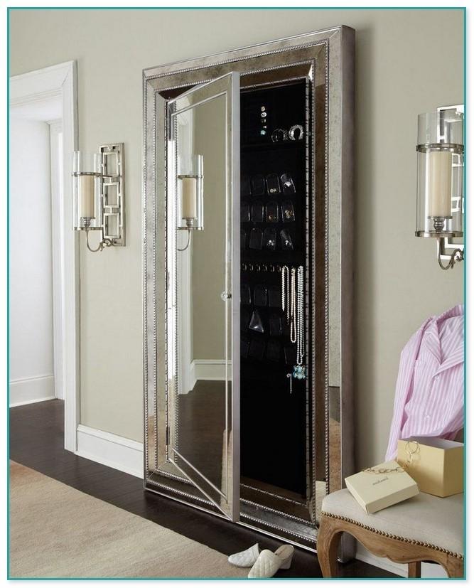 Gentil Floor Standing Mirror Jewelry Armoire