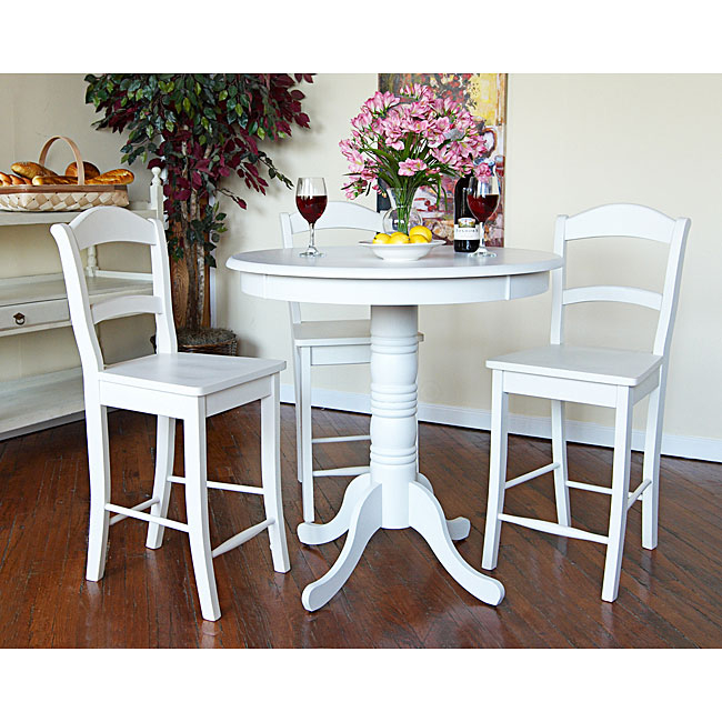 Incroyable Hammond Antique White Pub Table
