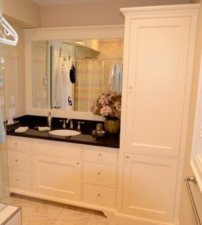 Bathroom Vanity With Matching Linen Tower - Holiday Hours