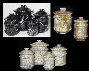 Marble kitchen canister sets onyx canisters marble stone jars 5