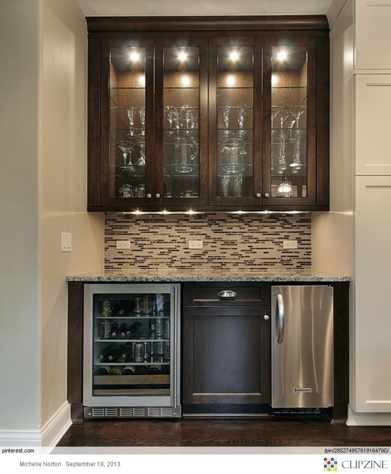 Good Mini Refrigerator Cabinet Bar 6