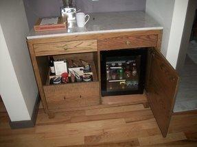 Mini Refrigerator Cabinet Bar 7