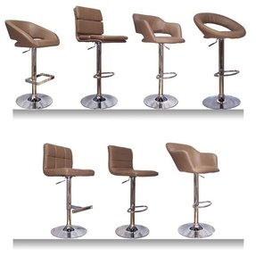 New brown taupe faux leather abs kitchen breakfast bar stools