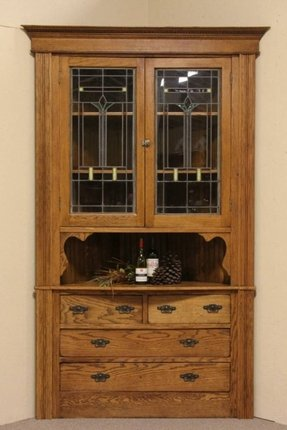 Admirable Corner Oak China Cabinet Ideas On Foter Home Interior And Landscaping Ologienasavecom