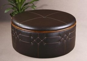 Of the luxury and elegant concepts of leather ottoman coffee