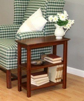 Charmant Our Chairside Bookshelf End Table In Chestnut Finish