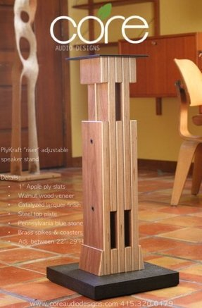 Stainless steel speaker stands 12
