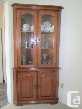 Greatest Corner Oak China Cabinet - Foter UV31