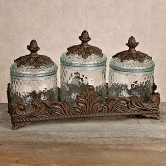 Vintage tea coffee and sugar canisters