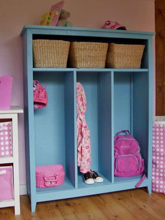 10 Ideas To Use Lockers As Kids Room Storage