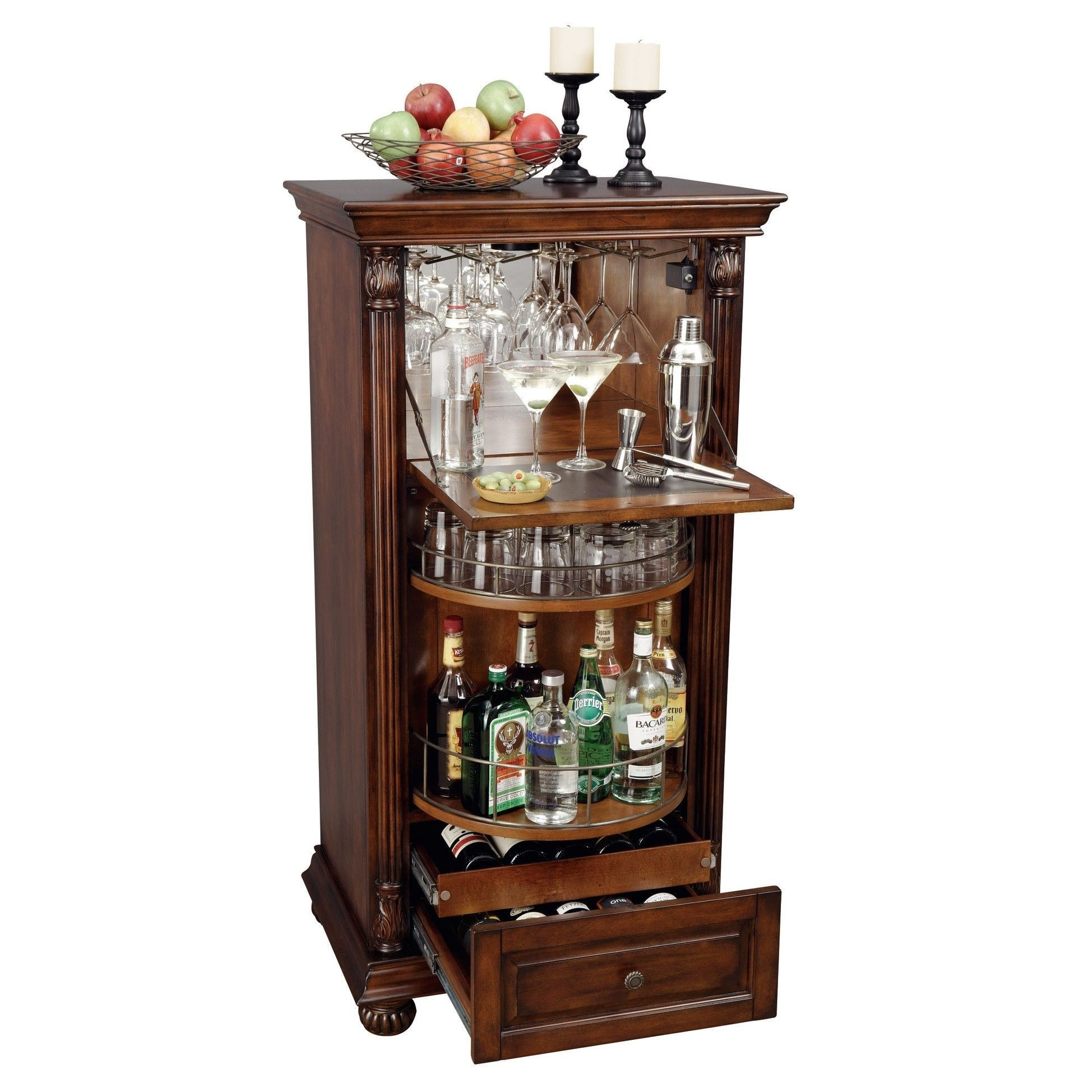 Alexandria Expandable Home Bar Liquor Cabinet 2