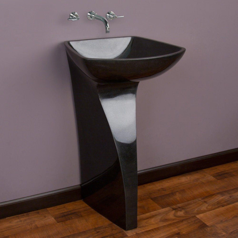 Attrayant Black Pedestal Sink