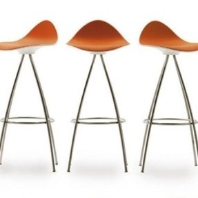 Burnt orange bar stools