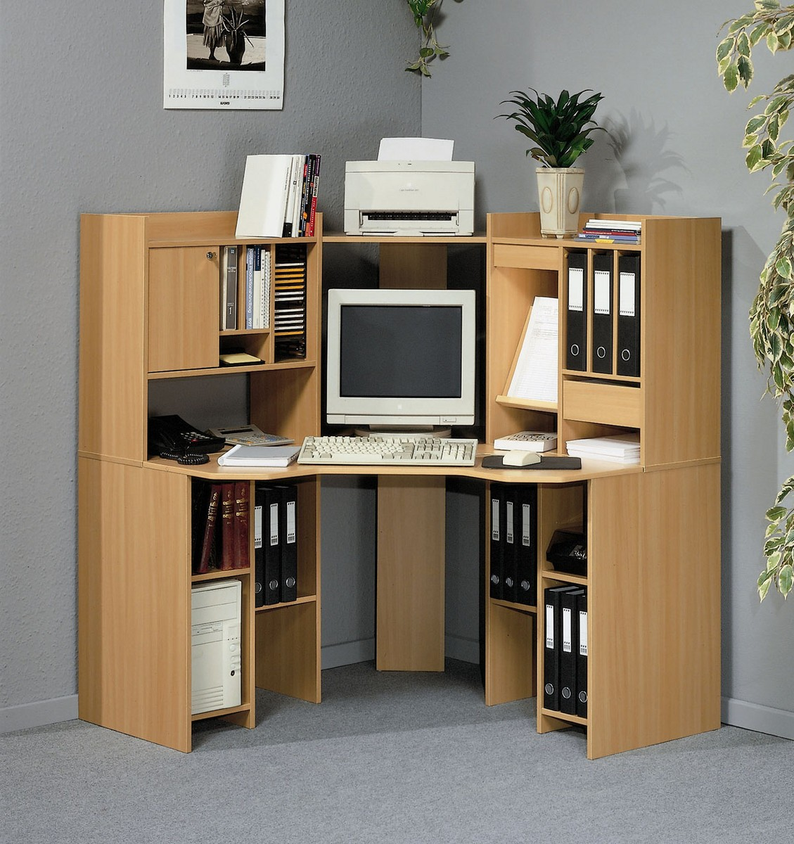 corner computer desk with shelves foter rh foter com computer desk with bookshelves unit computer desk with bookshelf on the end