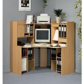 Admirable Corner Computer Desk With Shelves Ideas On Foter Download Free Architecture Designs Scobabritishbridgeorg