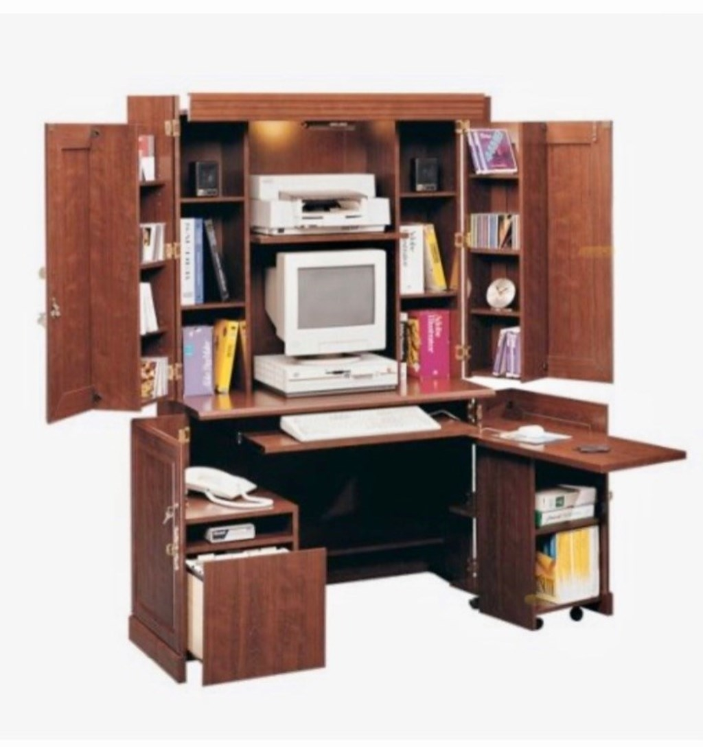 Delicieux Computer Hutch Armoire