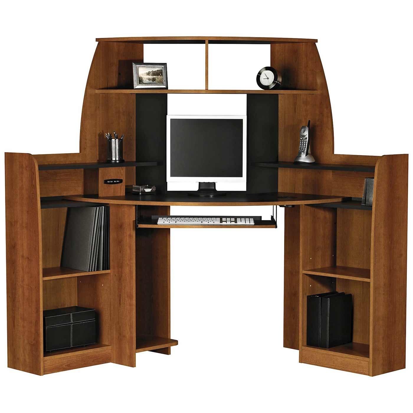 Desk With Shelves On Side