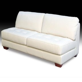 Admirable Armless Leather Sofa Ideas On Foter Download Free Architecture Designs Scobabritishbridgeorg