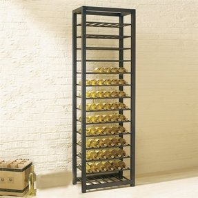 Floor wine racks tag trio tall steel 84 bottle wine