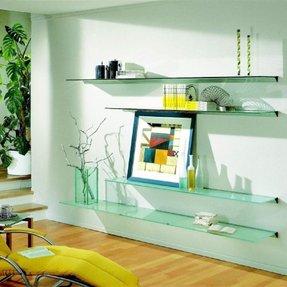 Glass Wall Shelves For Living Room - Foter