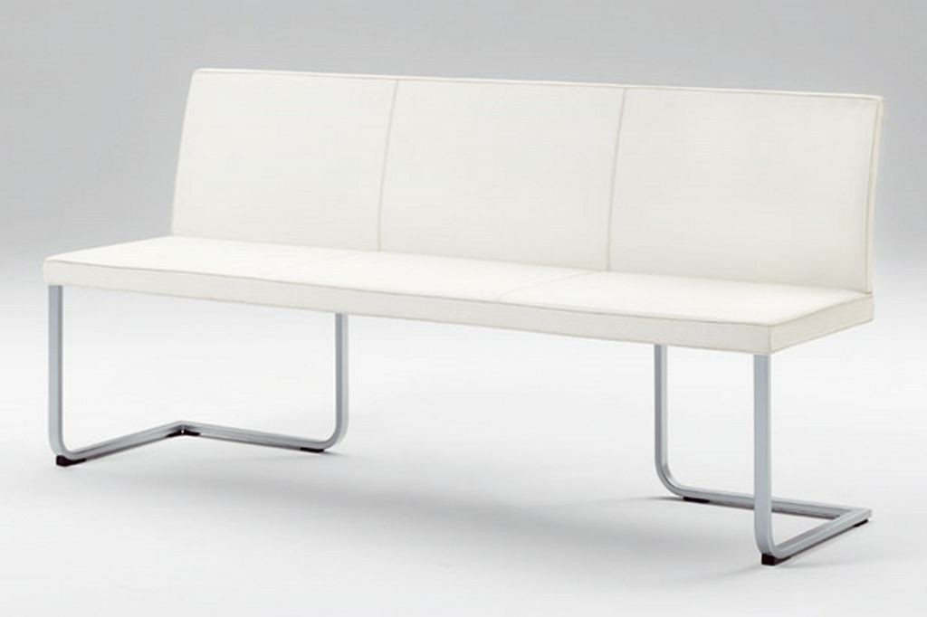 Leather Dining Bench With Back