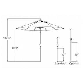patio umbrella pole diameter foter