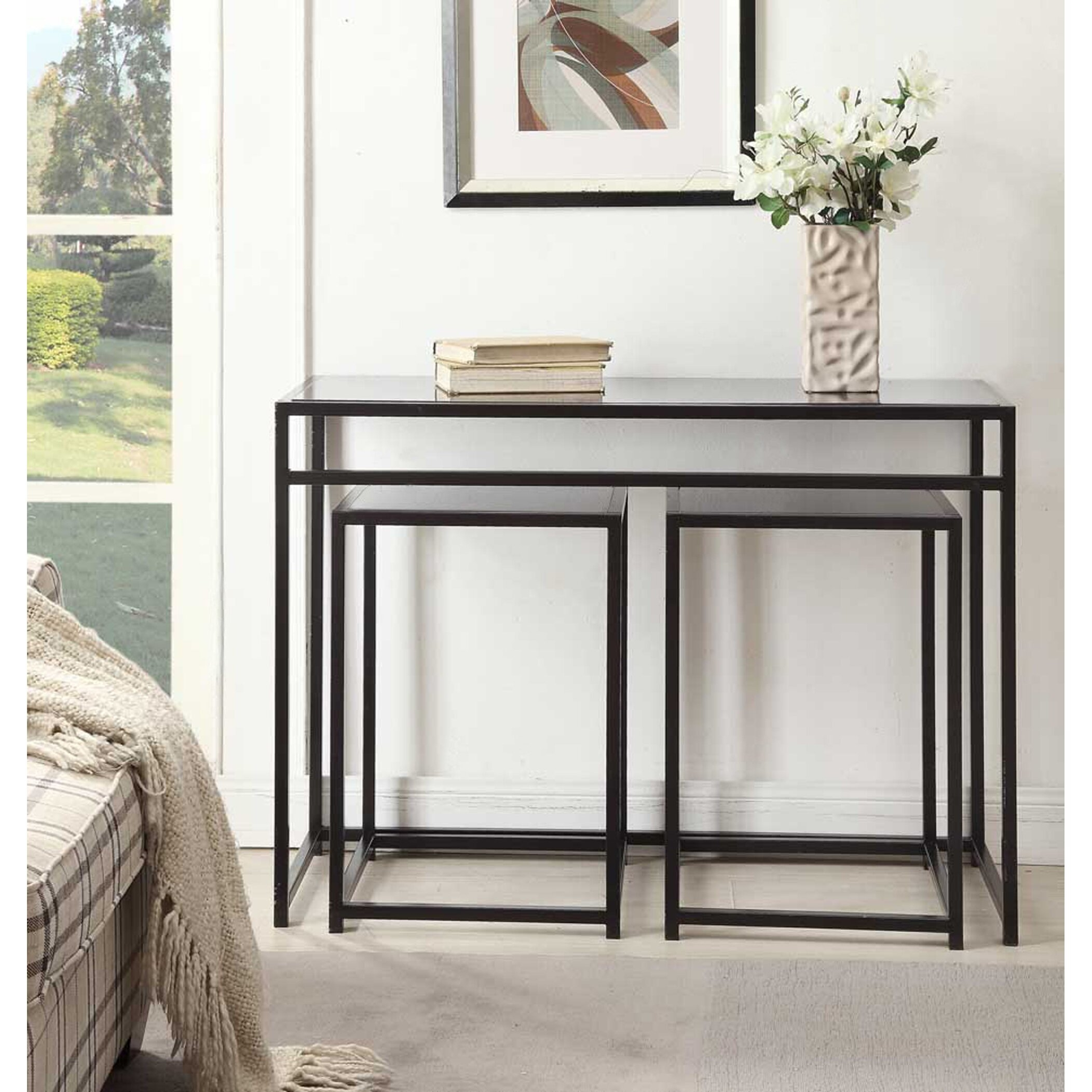 Narrow Glass Console Table Foter